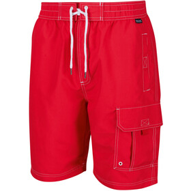 Regatta Hotham Board Shorts Men true red